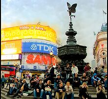 Friday evening at Piccadilly Circus by ajubdeen