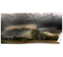 Insane storm over Nuenen, the Netherlands Poster
