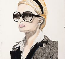 Plaster of Paris (Portrait of Paris Hilton) by Joshua Rex