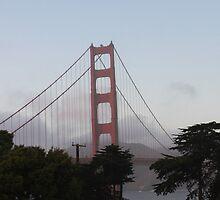 Golden Gate Bridge on a Foggy Day by Missy Yoder