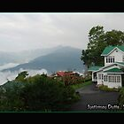 GANGTOK IN THE MORNING , WITH THE CLOUDS by JYOTIRMOY Portfolio Photographer