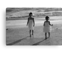 When sisters stand shoulder to shoulder, who stands a chance against us?  Canvas Print