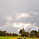 Double Rainbow at Rainbow Farm Gate Busselton Western Australia by Coralie Plozza