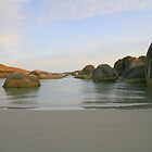 Beach at Elephant Rocks WA by Leonie Mac Lean