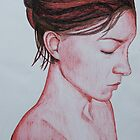Profile in Red by Rebecca Staffin