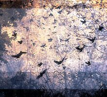 Composition With Ghosted Birds, Trees and Sky  by Ivana Redwine