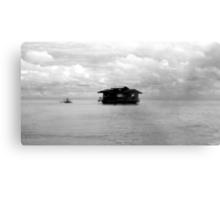 Floating house Metal Print