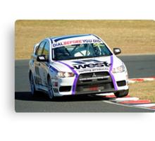 Australian Manufacturers Championship/Australian 6 Hour Winners : Stuart Kostera & Warren Luff : Mitsubishi Evo X Canvas Print