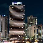 Broadbeach QLD - skyline at night by bsn-photography