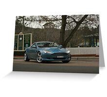 Aston Martin DB9 Sir Don Bradman Museum Greeting Card