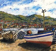 Corfu Beached Fishing Boats by Randy Sprout