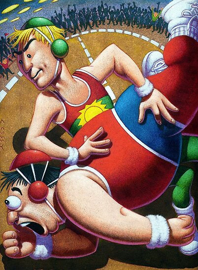 Wrestle Mania by Mike Cressy