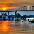 Sunset on Chesapeake City by Monte Morton