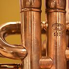 Copper Trumpet Detail by rwilks