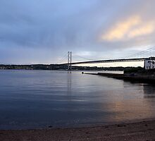 The Forth Road bridge from North Queensferry by Ian Coyle