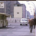 Check Point Charlie, West Berlin, Germany 1970 by leftfieldnz