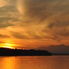 Sunset on Puget Sound V2 by Jerome Petteys