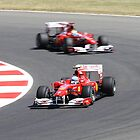 Ferrari F10, Fernando Alonso & Felipe Massa by Ben Luck