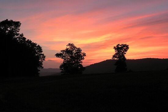 Ozark Sunset  by NatureGreeting Cards ccwri