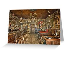 Nevada's Oldest Thirst Parlor (INside) Greeting Card