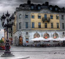 A Square in Uppsala - Uppsala near Stockholm, Sweden by Mark Richards