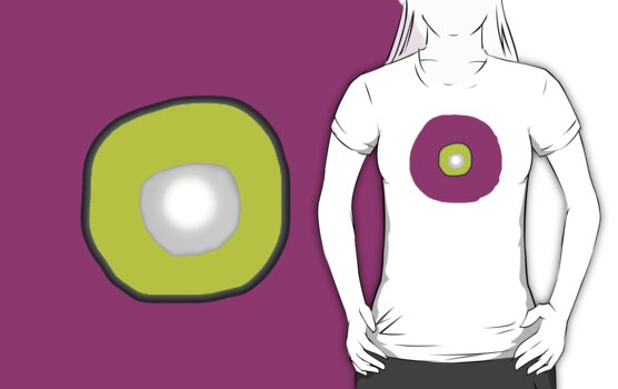Target Pink/Yellow   T SHIRT/Baby grow/sticker by Shoshonan