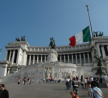 Victor Emmanuel monument in Rome, Italy by buttonpresser
