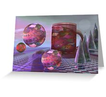 Daydreams with coffee Greeting Card