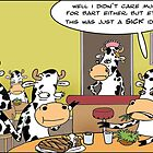 Cow Diners A Londons Times Cartoon by Rick  London