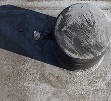Bollard on the pier by Marjolein Katsma