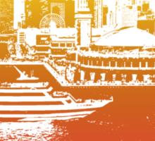 Chicago Navy Pier Skyline T-shirt Design Sticker