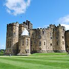 A View inside Alnwick Castle Walls by Cathy Jones