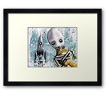 Alex lands Framed Print