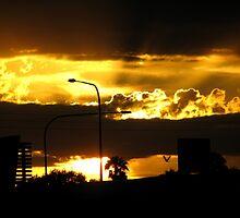 Fire In An Urban Sky by PhoenixArt