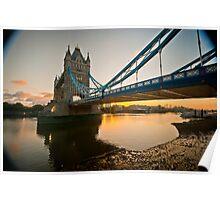 Sunrise at Tower Bridge. London. UK. Poster