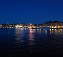 Stockholm at Night by Christina Juhlin
