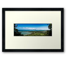 Dunk Island- View from Bicton Hill Framed Print