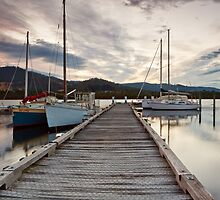 Jetty, Franklin, Tasmania by Chris Cobern