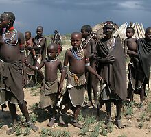 ARBORE VILLAGE - OMO VALLEY by Michael Sheridan