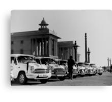new delhi. old cars. india Canvas Print