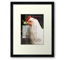 Animals around the house. Word Search Puzzle with a message. Framed Print