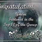 From the heart Challenge Top 10 Featured banner. by Qnita