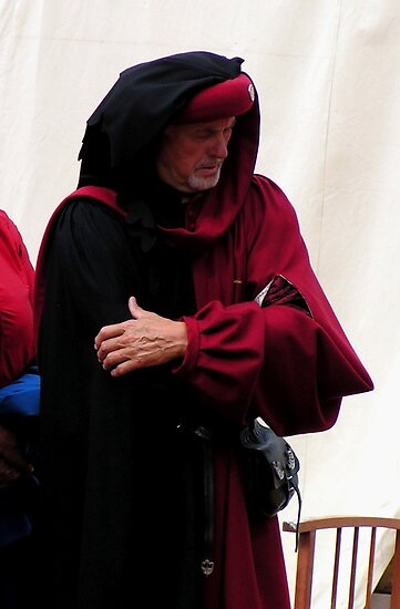 A worried medieval merchant before crusial battle 1 by patjila