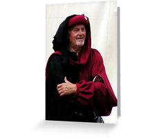 A hopeful Medieval merchant during the crusial battle 2 Greeting Card
