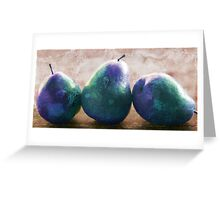 blue stone pears Greeting Card