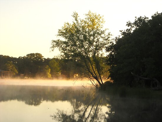 Morning Mist on the Lake by Keith Stephens