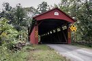 Back Through The Keefer Station Covered Bridge by Gene Walls