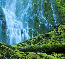 Green Waterfall by Inge Johnsson