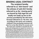 Legally Binding Shirt by designpickles