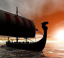 Viking Sunset by Sandra Bauser Digital Art